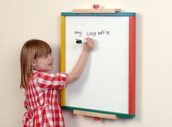 Double Sided Whiteboard & Plastic Safety Mirror - 48 x 60cm - Each