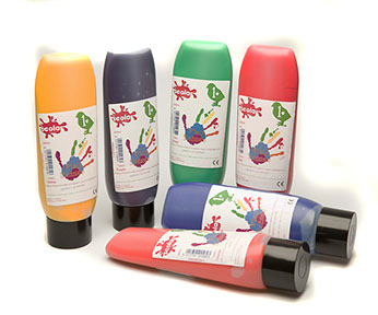 Chilrens Play Paint - Assorted - 6 x 300ml - Pack of 6 - 1 years+