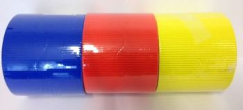 Corrugated Border Rolls - Primary Colours - Educraft Scalloped Wavy Edge - 57mm x 7.5m - Assorted - Pack of 6