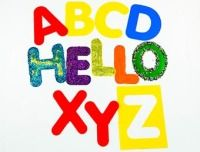 Alphabet Large Upper Case Letter Washable Stencils - 17 x 14cm - Assorted - Pack of 26