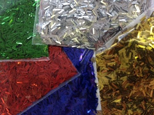 Glitter Fibres - Assorted - Pack of 5 - 5 x 100g Shakers