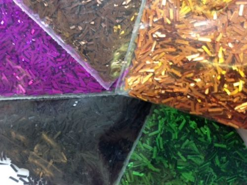 Halloween Glitter Fibres - Assorted - Pack of 5 - 5 x 100g Shakers