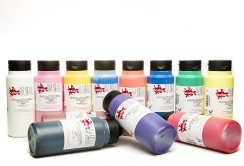 Scola System Acrylic Paint Set - Assorted - 10 x 500ml - Pack of 10