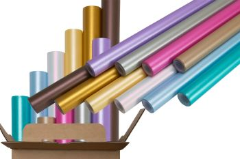 Centura Pearl Poster Paper Display Rolls - Assorted - 70cm x 4m - Pack of 10