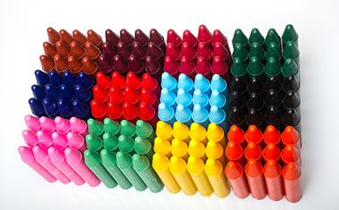 First Marks Chunky Wax Crayons - Assorted - Pack of 24(2 x 12)