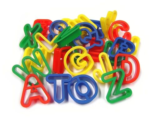 Letters - Upper Case Dough Cutters - Assorted - Pack of 26