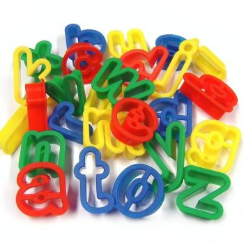 Lower Case Letter Dough Cutters - Assorted - Pack of 26