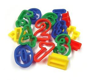Number & Arithmetic Dough Cutters - Assorted - pack of 15