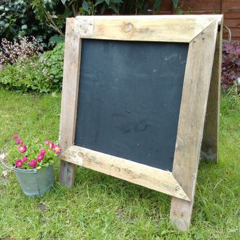 Free Standing Chalkboard with Wooden Frame Surround - 72cm High - Each