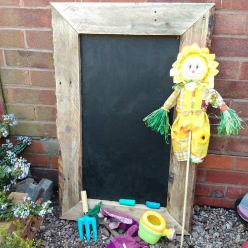 Chalkboard with Wooden Frame - 30cm Square - Each