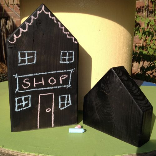 Chalkboard Houses - Pack of 2
