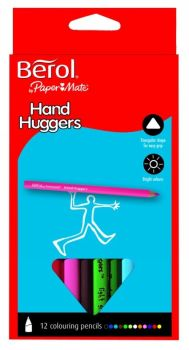 Berol Handhugger Full Length Colouring Pencils - Assorted - Pack of 12