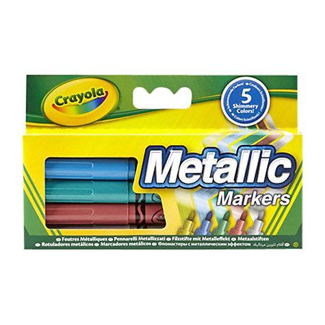 Crayola Metallic Markers - Assorted - Pack of 5