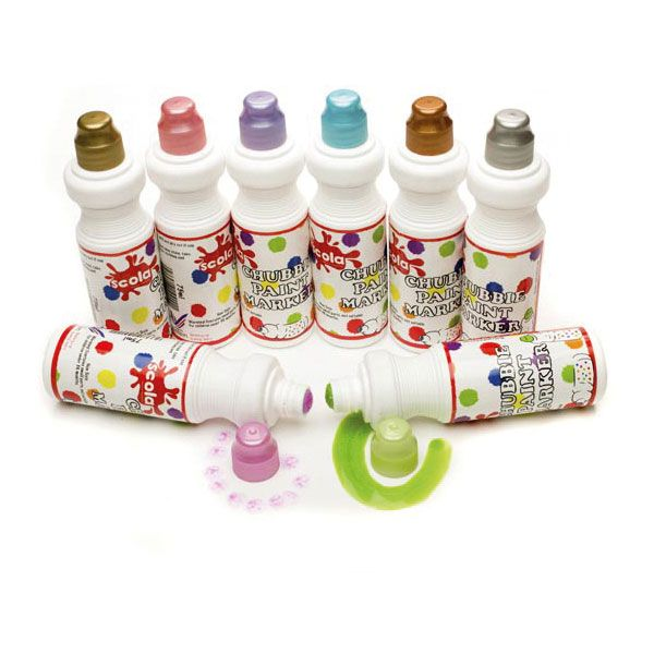 Chubbie Markers - Pearlescent Assorted - Pack of 8
