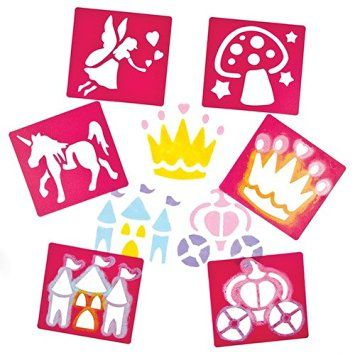 Fairies Washable Stencils - Assorted - Pack of 6