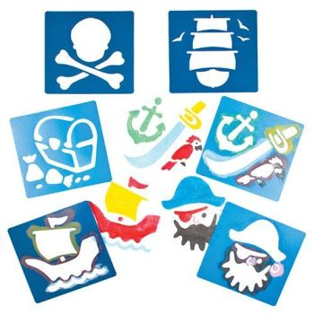 Pirates Washable Stencils - Assorted - Pack of 6