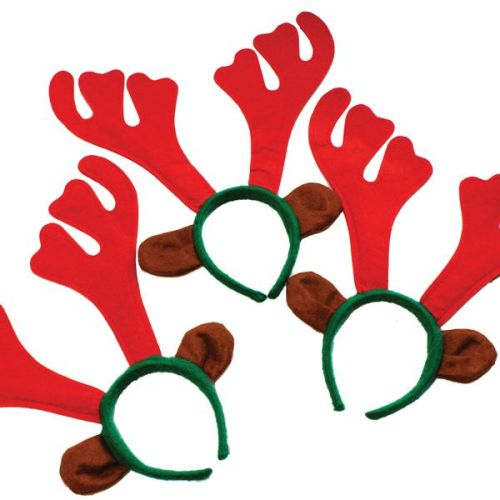 Christmas Felt Reindeer Antlers - Pack of 6
