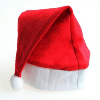 Christmas Felt Santa Hat - Pack of 12