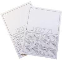 Calendar Portrait Blanks - A4 - Please Select Pack Size