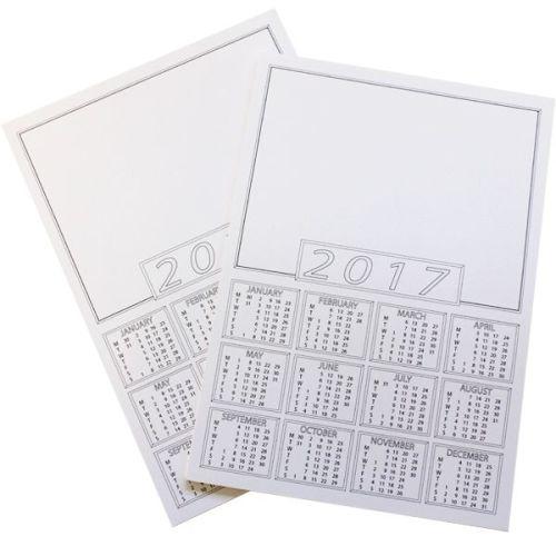 Calendar Portrait Blanks - A4 - Please Select Pack Size
