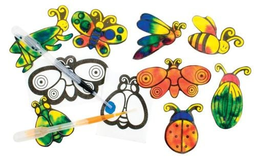 Colour Diffusing Paper - Bugs - 6-9cm - Assorted - Pack of 80