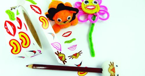 Mouth Stickers - Assorted - Roll of 600