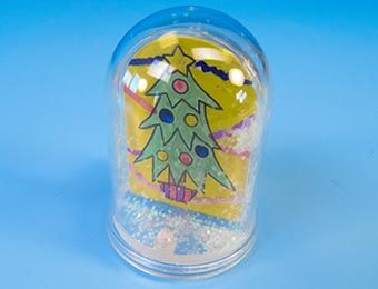 Make Your Own Snow Dome Kit - 7 x 5cm - Each