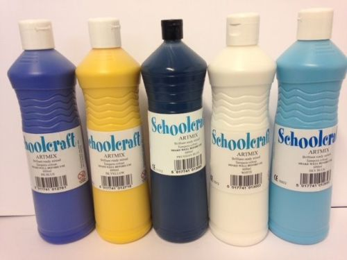 Night Skies Colours Ready Mixed Paint Set - Assorted - 5 x 600ml - Pack of