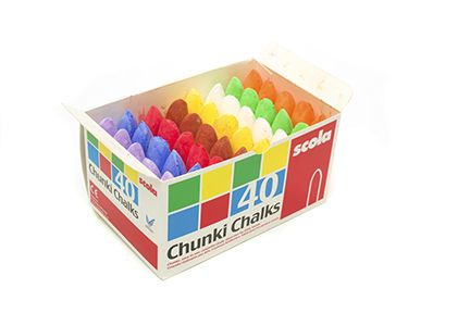 Chunki Chalks - Assorted - Pack of 40