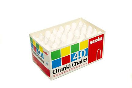 Chunki Chalks - White - Pack of 40