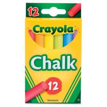 Crayola Anti-Dust Chalk - Assorted - 12 x  Boxes of 12