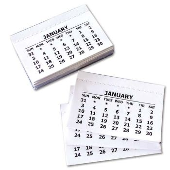 Calendar Tabs - Stitched - Please Select Pack Size
