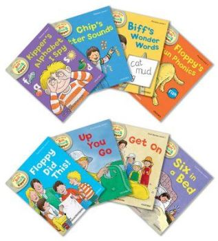 Biff, Chip, and Kipper Stories - Level 1 Phonics and First Stories - Assorted - Pack of 8
