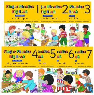 Finger Phonics Big Books - Assorted - Pack of 7 - Letter Print Edition