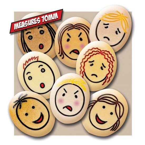 Jumbo Emotion Stones - Assorted - Tub of 12