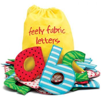 Feely Fabric Letters - Assorted - Bag of 26