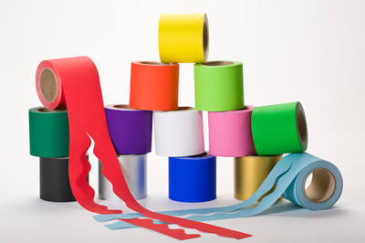 Educraft Black Scalloped Border Rolls - Pack of 2