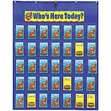 'Who's Here Today' Classroom Attendance Chart