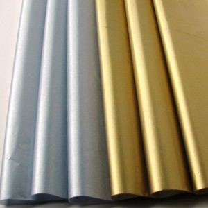 Silver Metallic Tissue Paper - Pack of 5