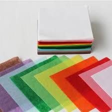 Tissue Paper 10cm Squares - Assorted - Pack of 480