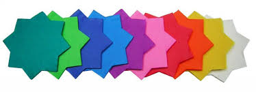 Tissue Paper Stars - Assorted Sizes & Colours - Pack of 480