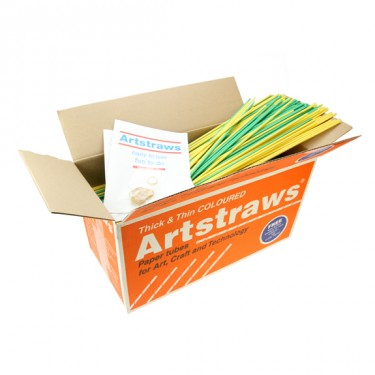 Artstraws - Coloured - 4mm (thin) and 6mm (thick) - Approx 900