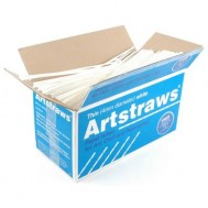 Artstraws - White - 4mm (thin) - Pack of approx 1800