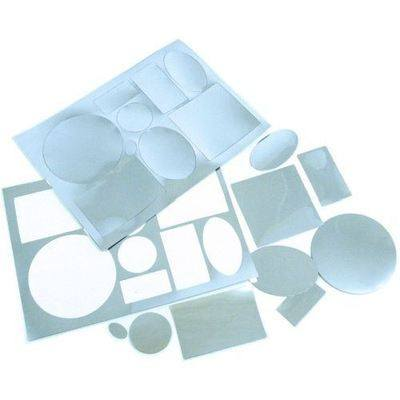 Plastic Mirror Shapes - Assorted - Pack of 36
