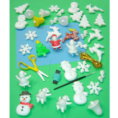 Polystyrene Christmas Shapes - Pack of 35