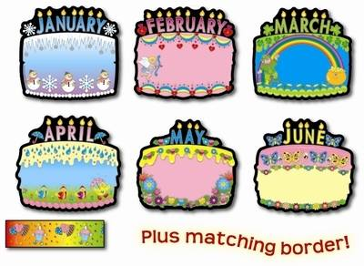 Birthday Cakes Classroom Display Pack - Assorted - Pack of 12