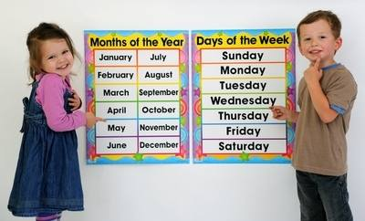 Days of the Week & Months of the Year Poster Pack - Pack of 2