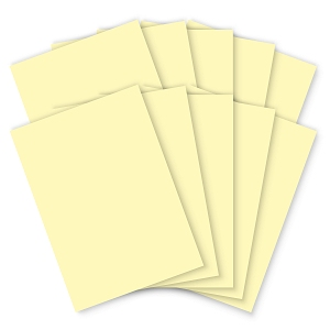 Pastel Yellow Card - 210 x 297mm - 200mic - Pack of 100