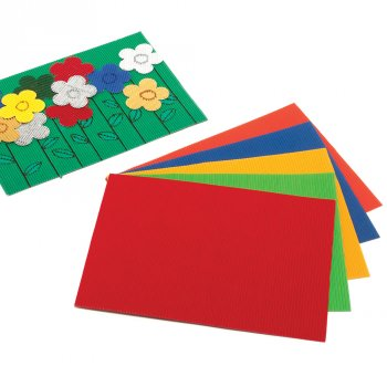 Bright Assorted Corrugated Sheets - A4 - Pack of 10