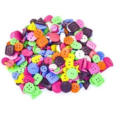 Craft Buttons - Assorted - 500g